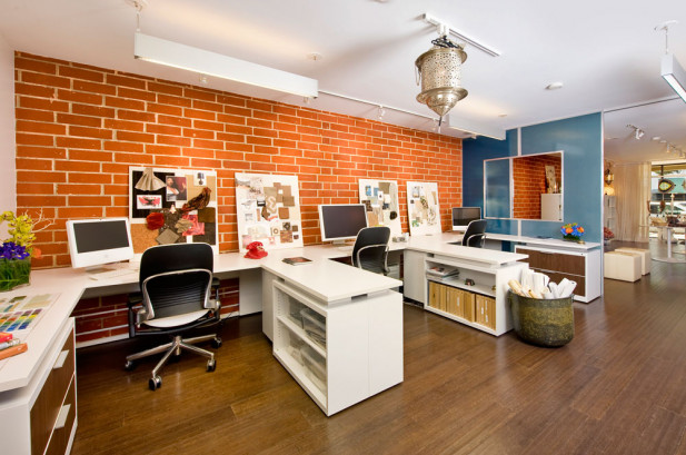 The office space in our showroom