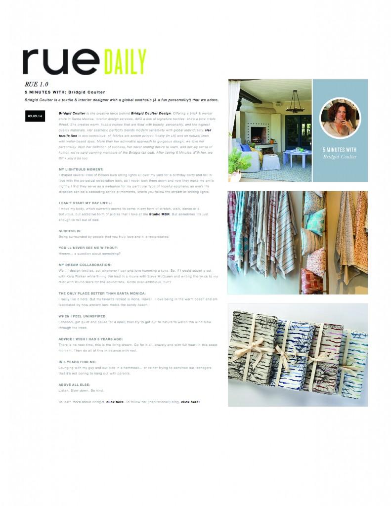 Brigid Coulter Rue Daily Sept 2014
