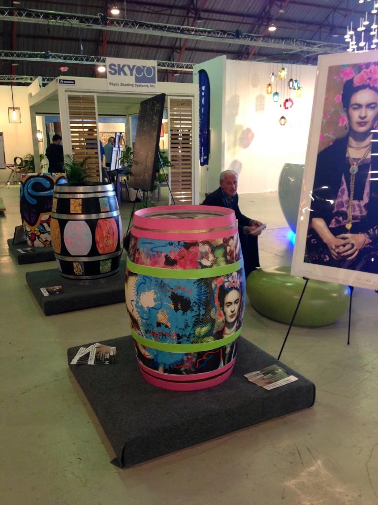 a barrel of art